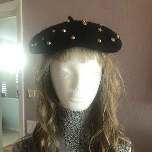 NORMANDY ULTRA BASQUE Vintage Wool Beret black
